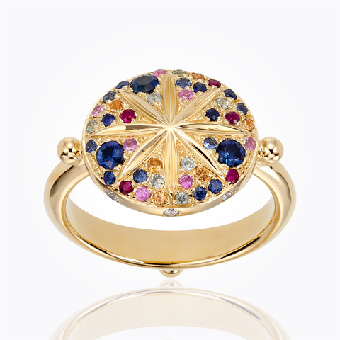 Temple St. Clair 18K Yellow Gold .09cts  Diamonds Gold Ring with Stones R46801-SORMX