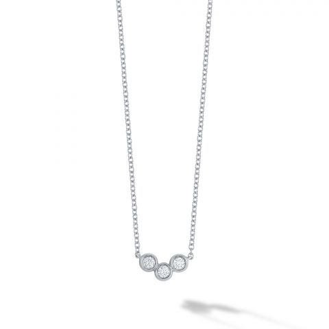 Birks 18K White Gold .11cts  Diamonds Gold Necklace with Stones 450014240594