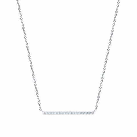 Birks 18K White Gold .16cts  Diamonds Gold Necklace with Stones 450011459029