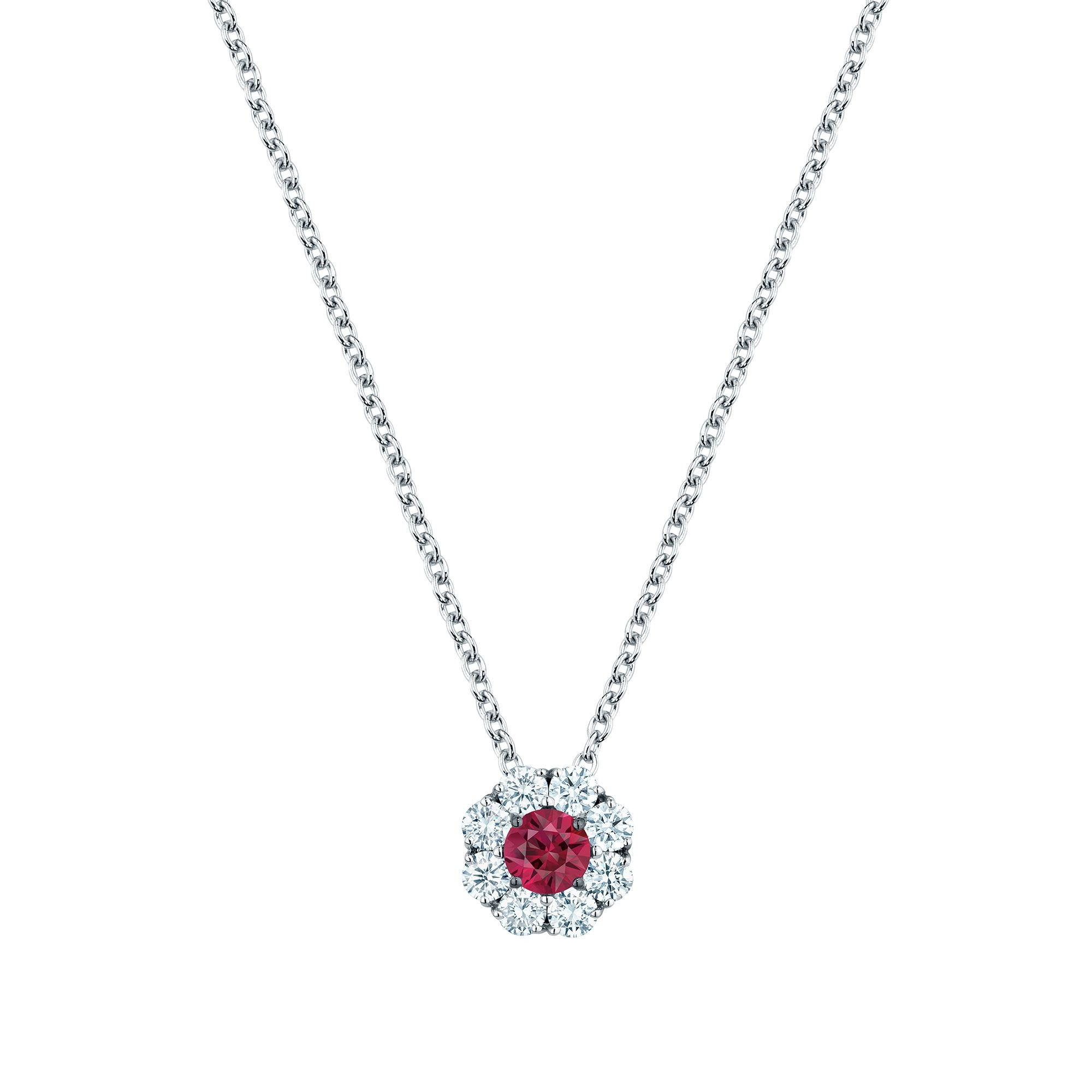 Birks 18K White Gold .28cts  Diamond Gold Necklace with Stones 450010211376