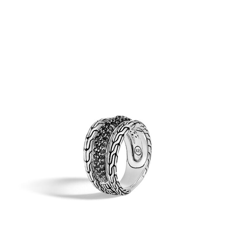 John Hardy       Silver Rings with Stones RBS9996984BLSBNX-7