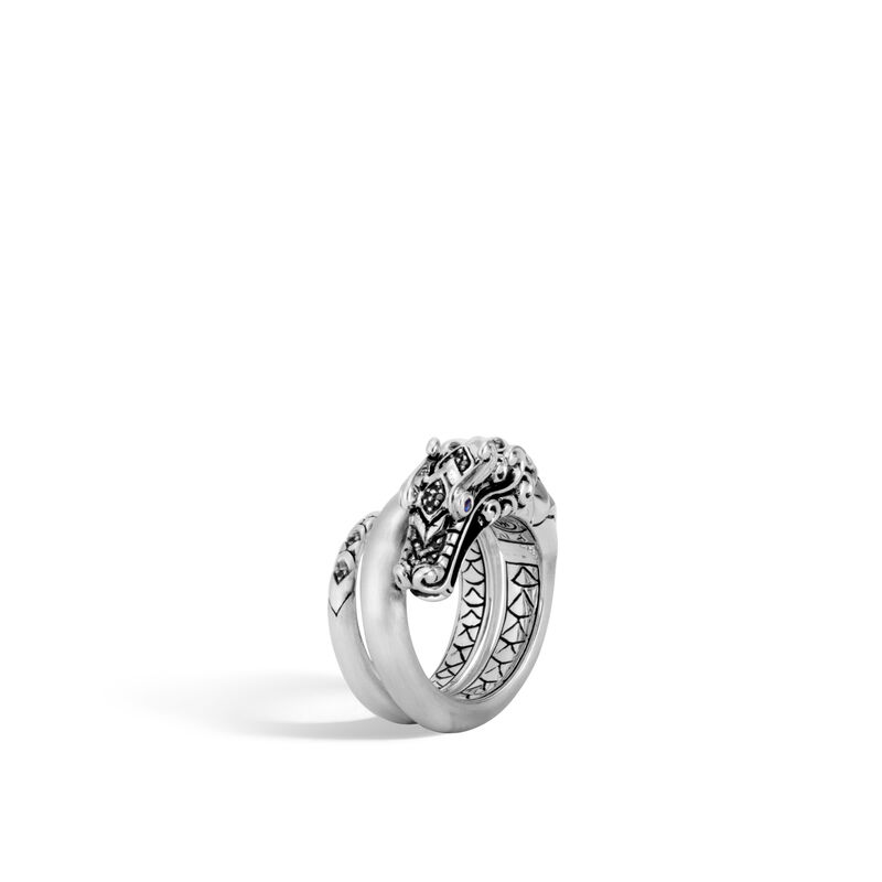 John Hardy       Silver Rings with Stones RBS601354BHBNBSPX7