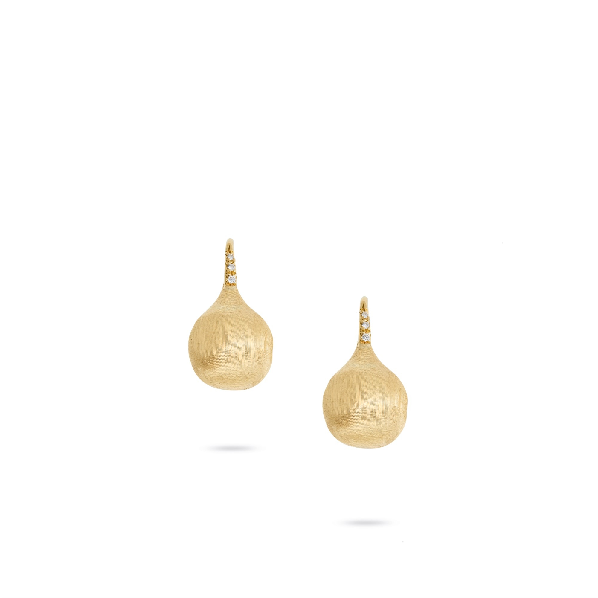 Marco Bicego 18K Yellow Gold .05cts  Diamonds Gold Earrings with Stones OB1632-A B Y