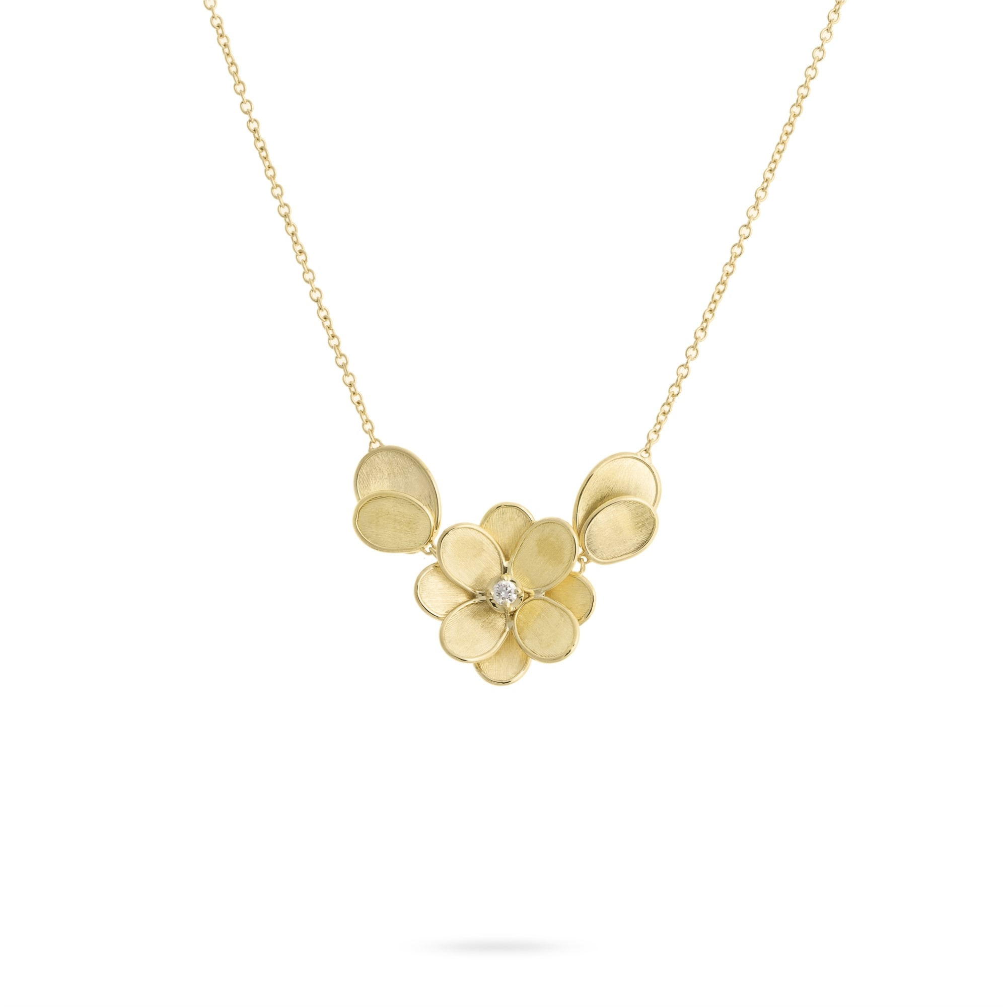 Marco Bicego 18K Yellow Gold .08cts  Diamonds Gold Necklace with Stones CB2437 B Y