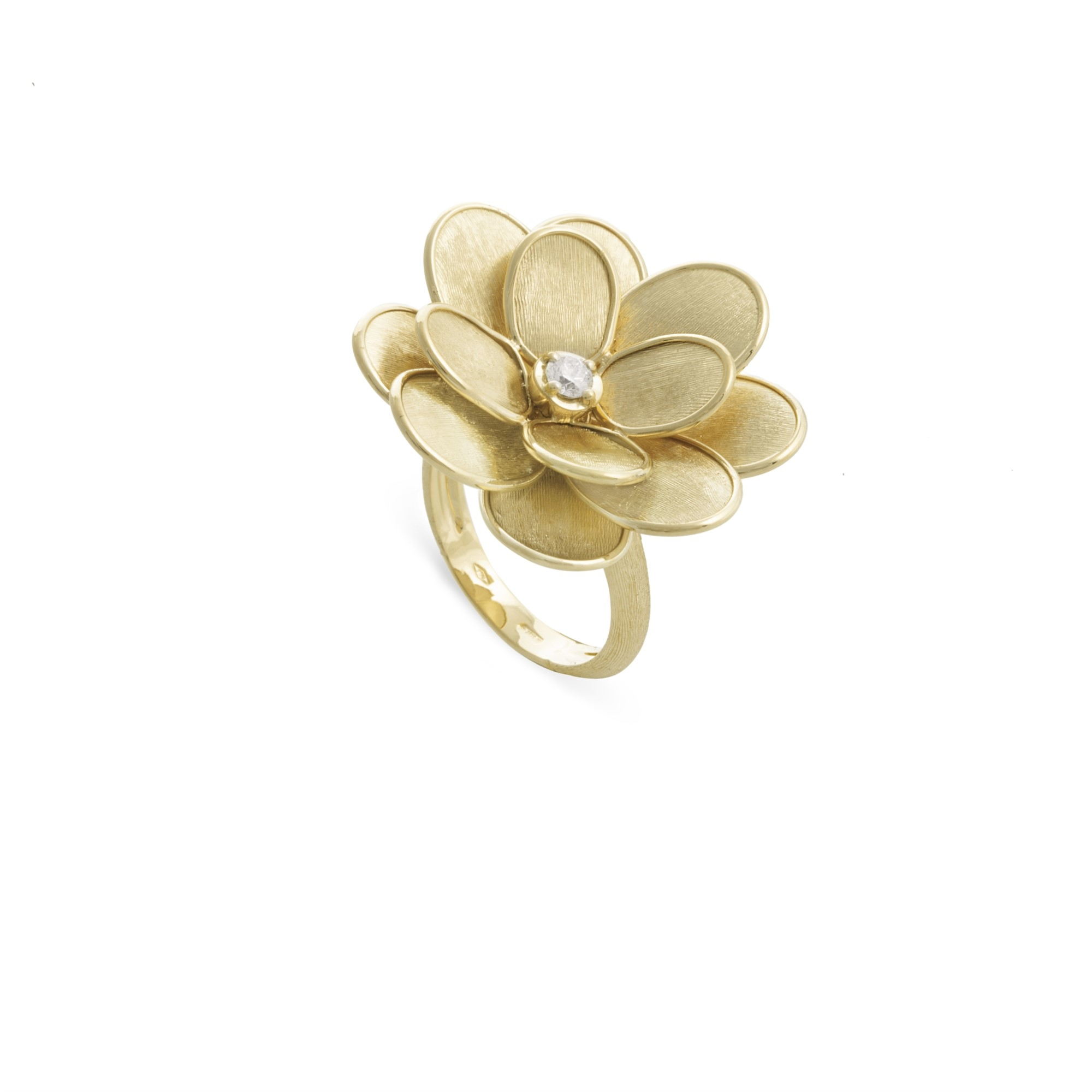 Marco Bicego 18K Yellow Gold .08cts  Diamonds Gold Ring with Stones AB606 BY