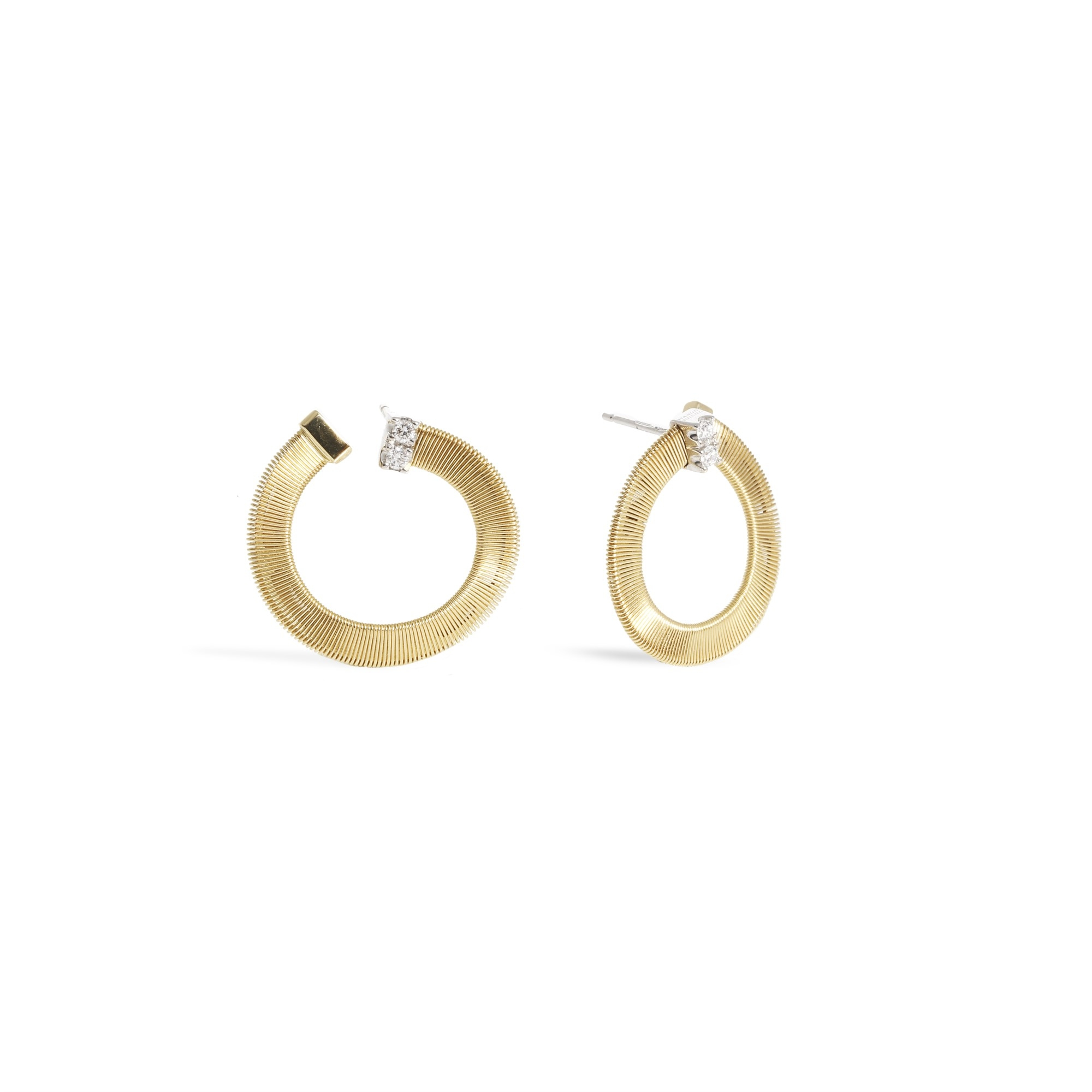 Marco Bicego 18K Yellow Gold .12cts  Diamonds Gold Earrings with Stones OG376 B YW