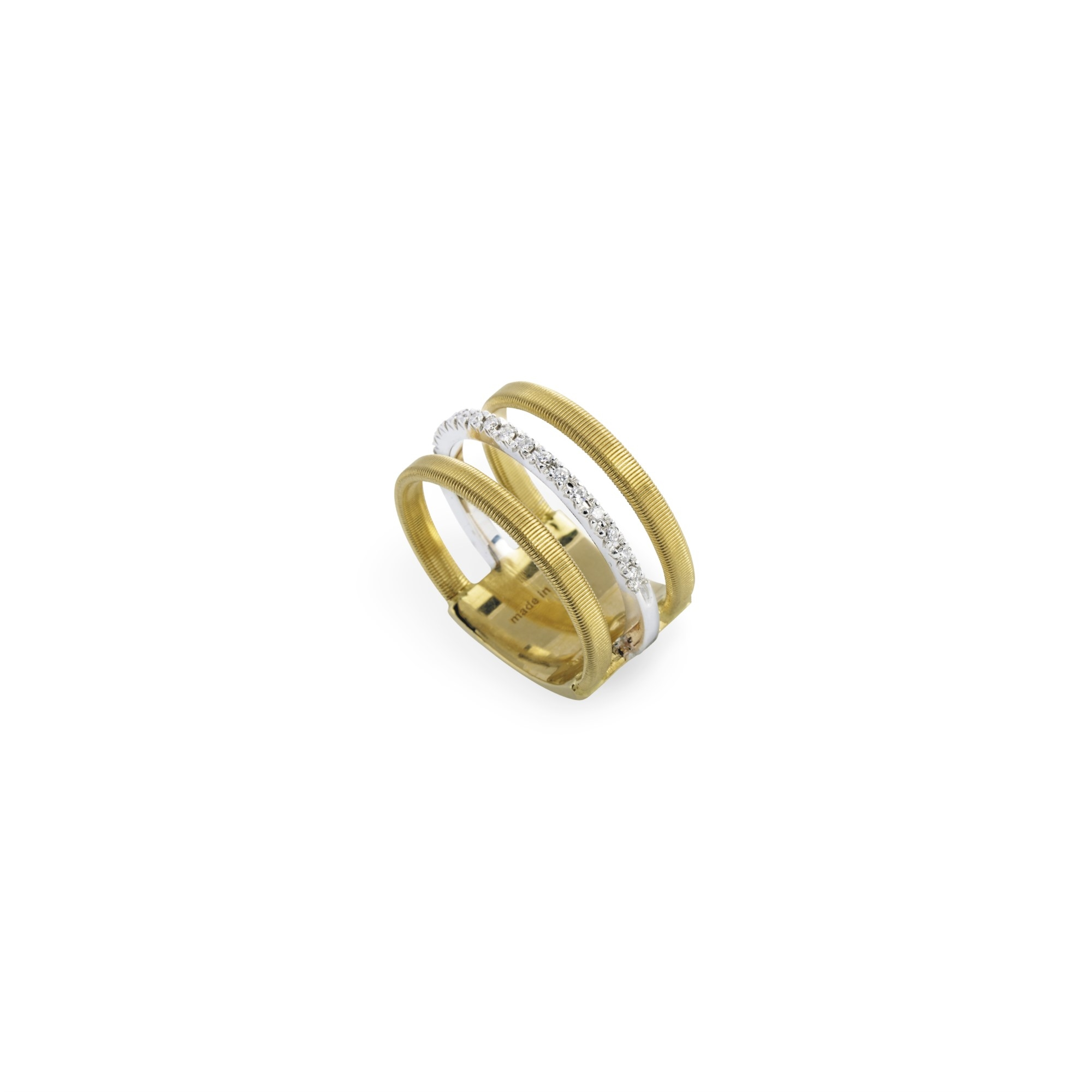 Marco Bicego 18K Yellow Gold .13cts  Diamond Gold Ring with Stones AG326 B YW