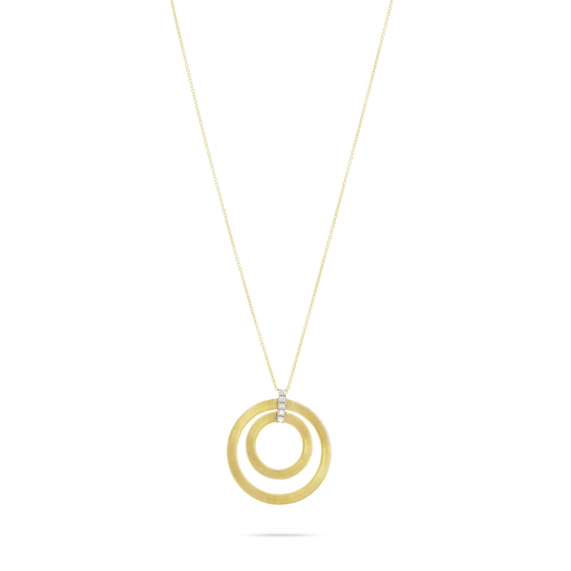 Marco Bicego 18K Yellow Gold .15cts  Diamonds Gold Necklace with Stones CG800 B YW