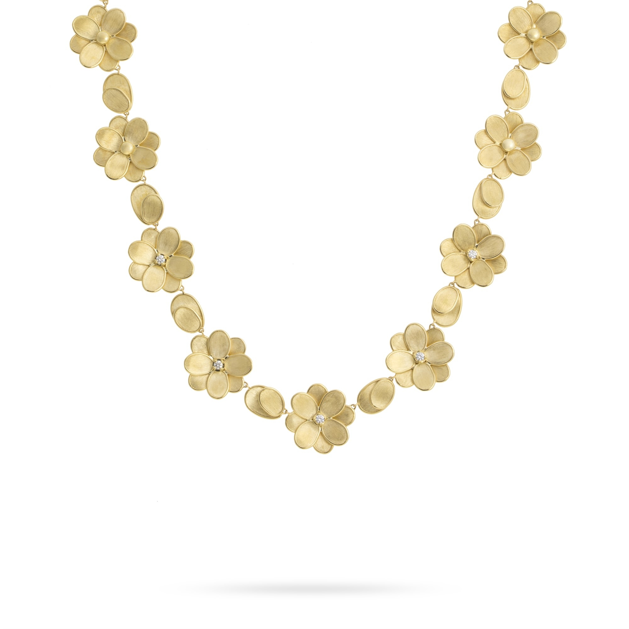Marco Bicego 18K Yellow Gold .40cts  Diamonds Gold Necklace with Stones CB2441-B Y