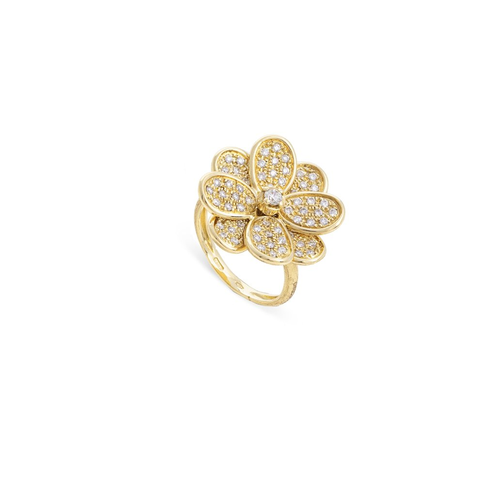 Marco Bicego 18K Yellow Gold .62cts  Diamond Gold Ring with Stones AB605-B6-Y