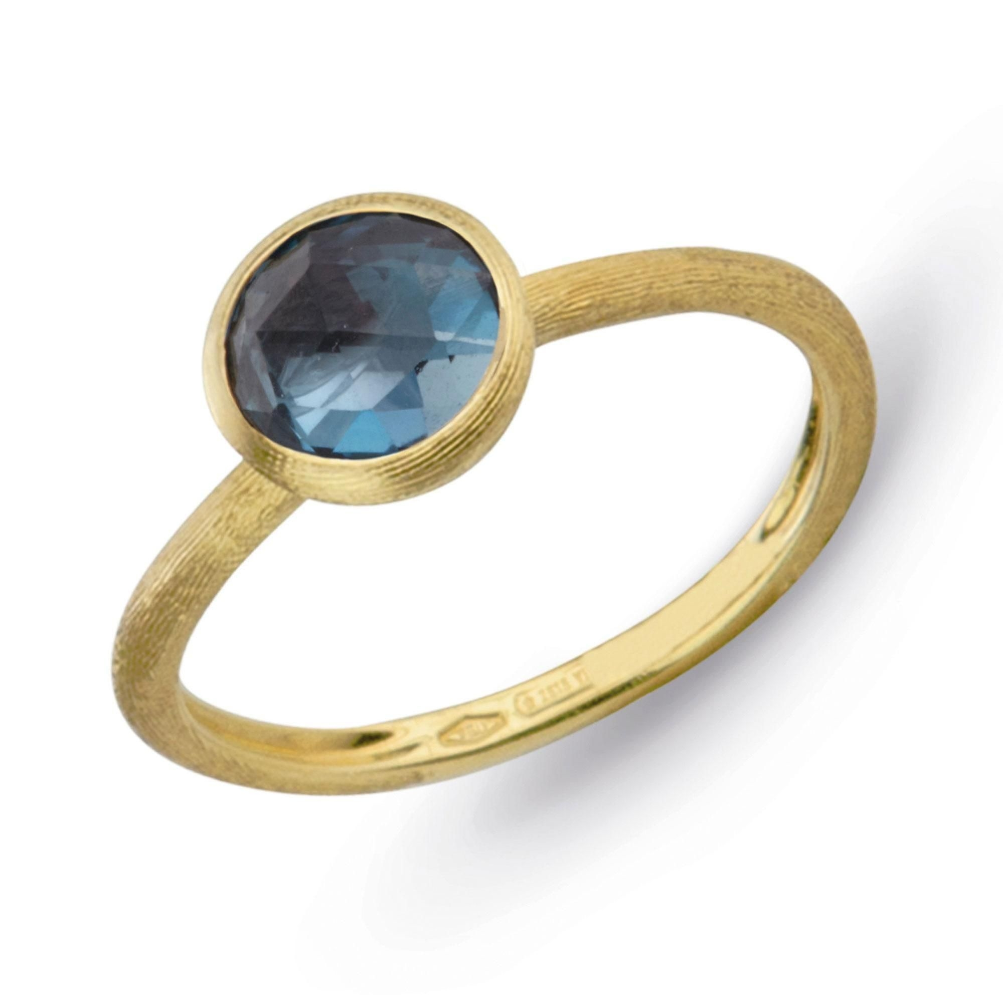 Marco Bicego 18K Yellow Gold  Blue Topaz Gold Ring with Stones AB471-TPL01-Y