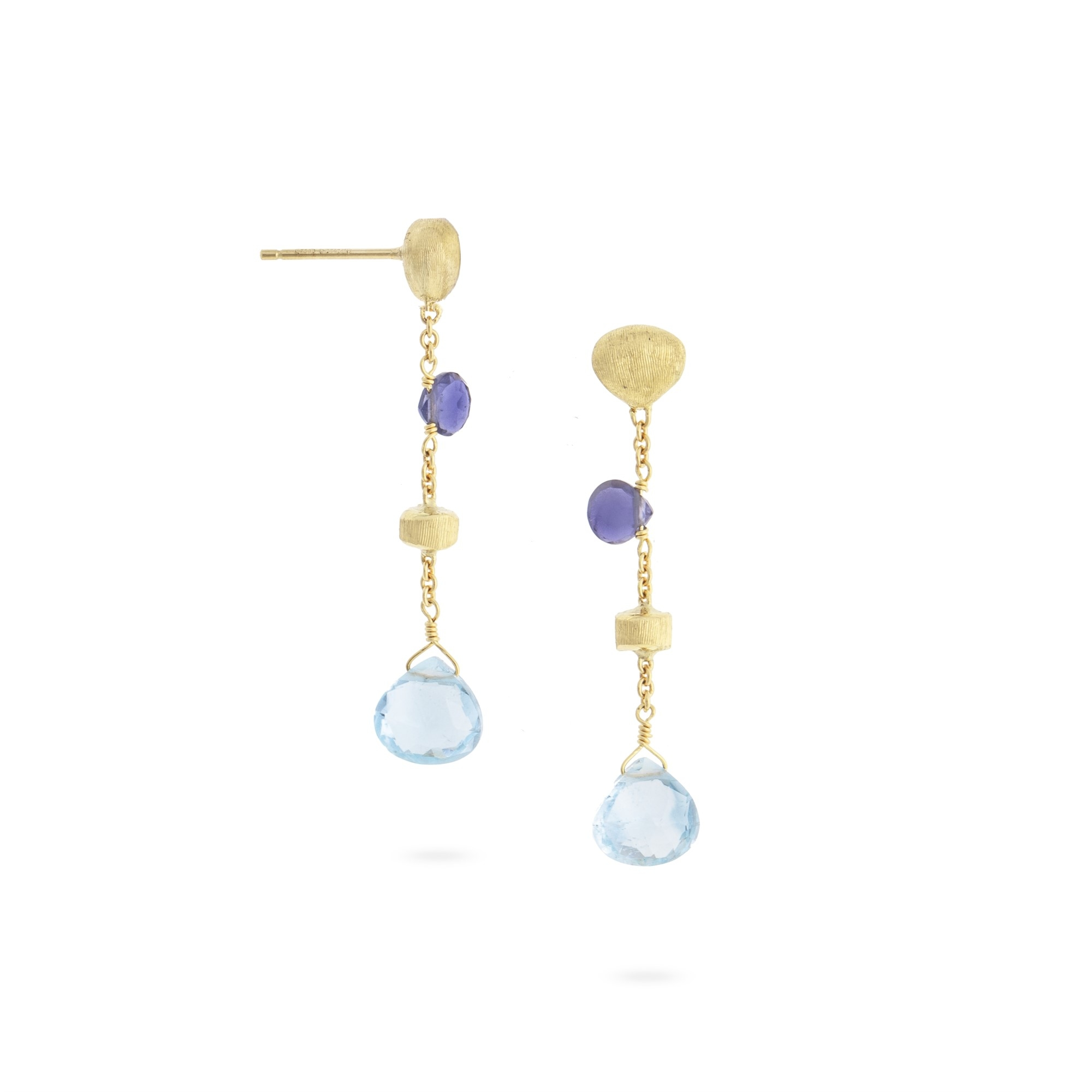 Marco Bicego 18K Yellow Gold    Gold Earrings with Stones OB1554 MIX240 Y