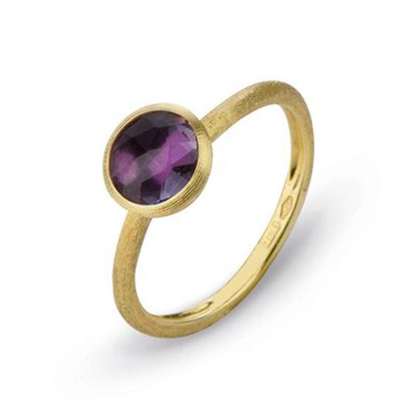 Marco Bicego 18K Yellow Gold  Purple Amethyst Gold Ring with Stones AB471-AT01-Y