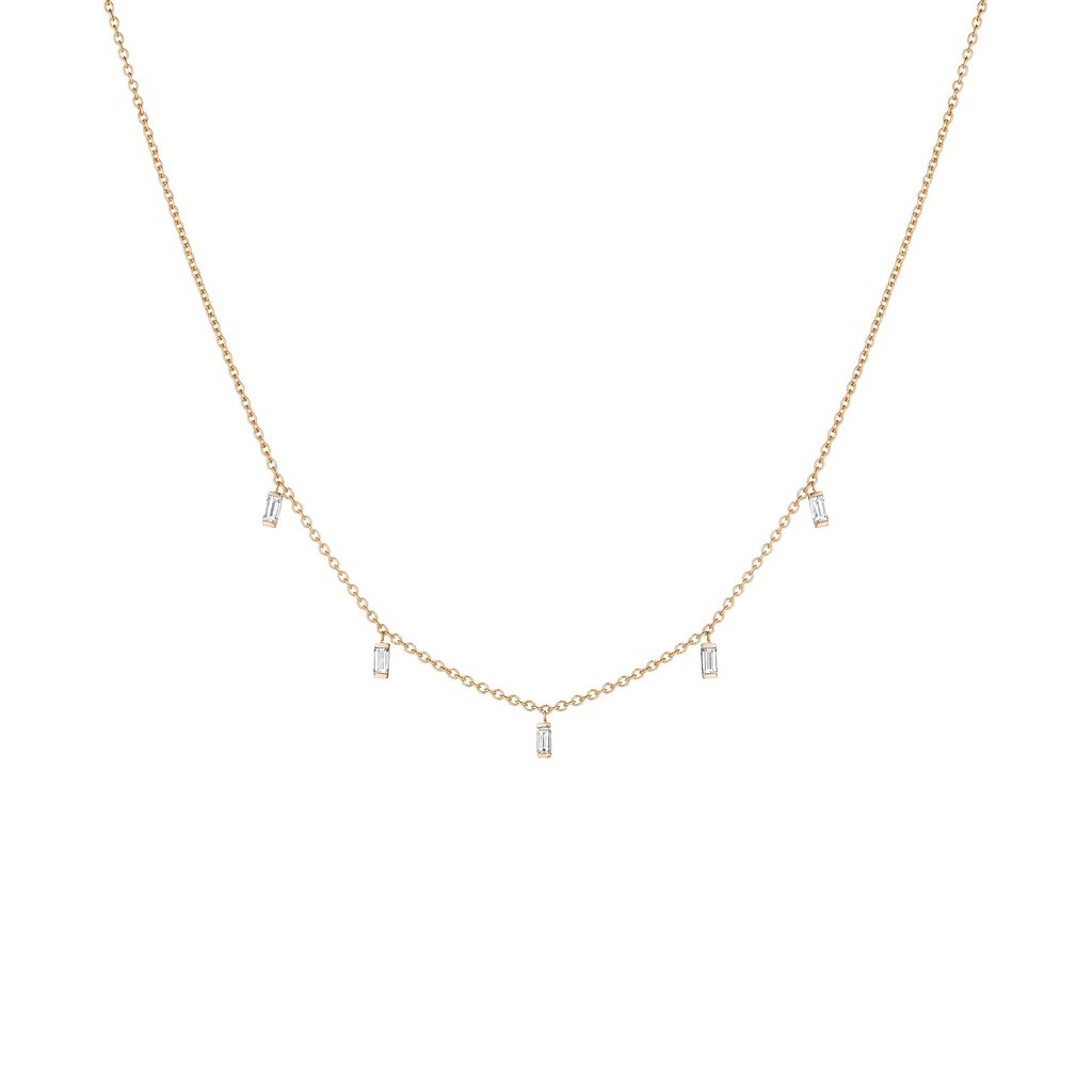 Penny Preville 18K Rose Gold .70cts  Diamonds Gold Necklace with Stones N7546R