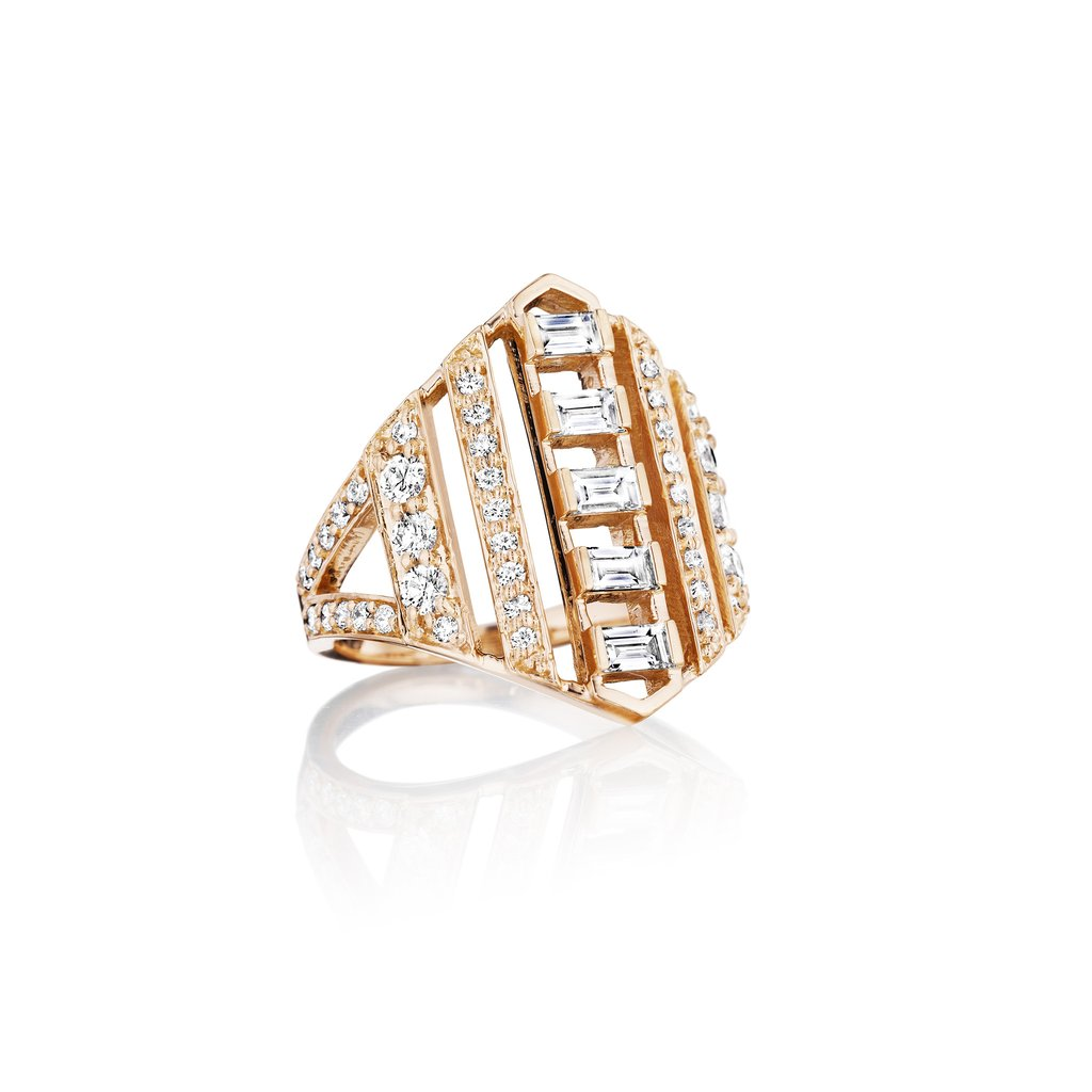 Penny Preville 18K Rose Gold 1.12cts  Diamonds Gold Ring with Stones R9088R