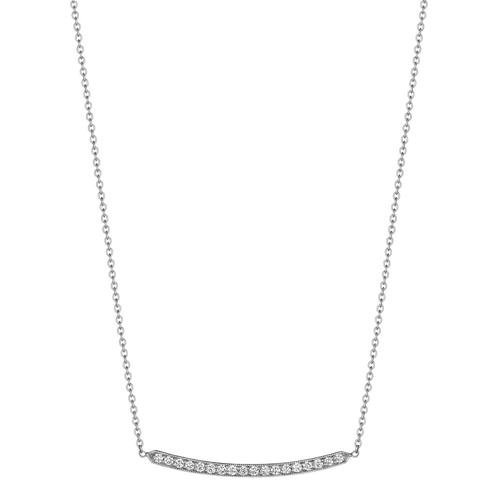 Penny Preville 18K White Gold .54cts  Diamonds Gold Necklace with Stones N7423W