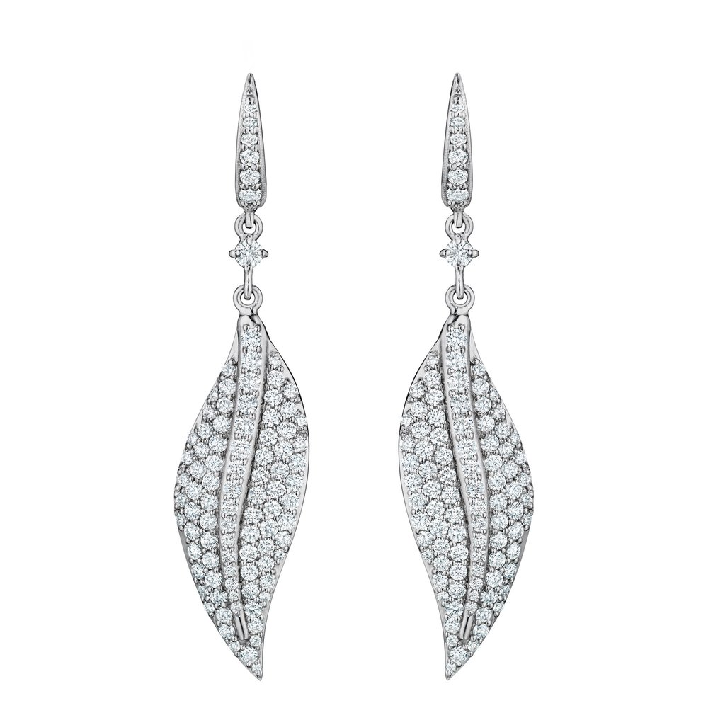 Penny Preville 18K White Gold 2.48cts  Diamonds Gold Earrings with Stones E6345W