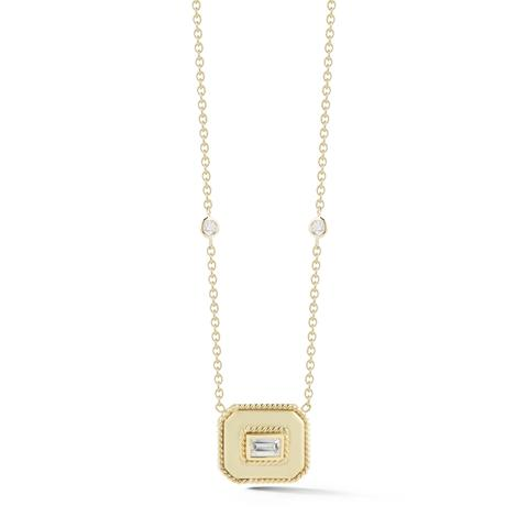 Penny Preville 18K Yellow Gold .43cts  Diamonds Gold Necklace with Stones N5141G