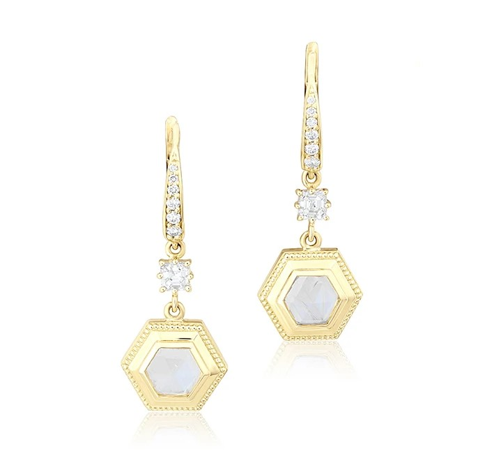 Penny Preville 18K Yellow Gold .59cts  Diamonds Gold Earrings with Stones E2246G