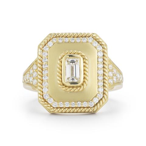 Penny Preville 18K Yellow Gold .69cts  Diamonds Gold Ring with Stones R5144G