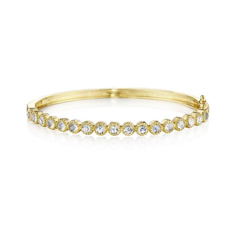 Penny Preville 18K Yellow Gold 2.04cts  Moonstone Gold Bangle with Stones B7630G-M