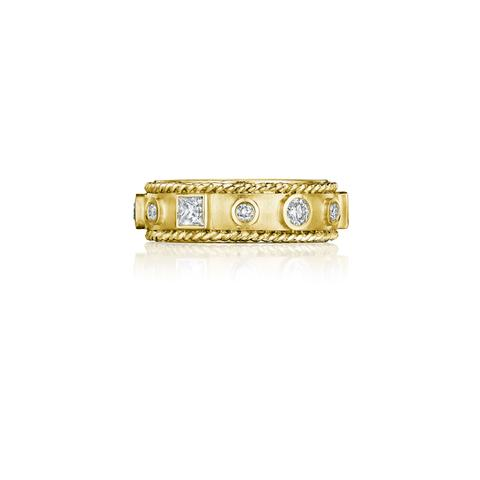 Penny Preville 18k Yellow Gold .51cts  Diamonds Gold Ring with Stones R7519G