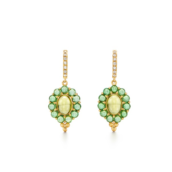 Temple St. Clair 18K Yellow Gold .15cts  Diamonds Gold Earrings with Stones E44862-PD3VTVR