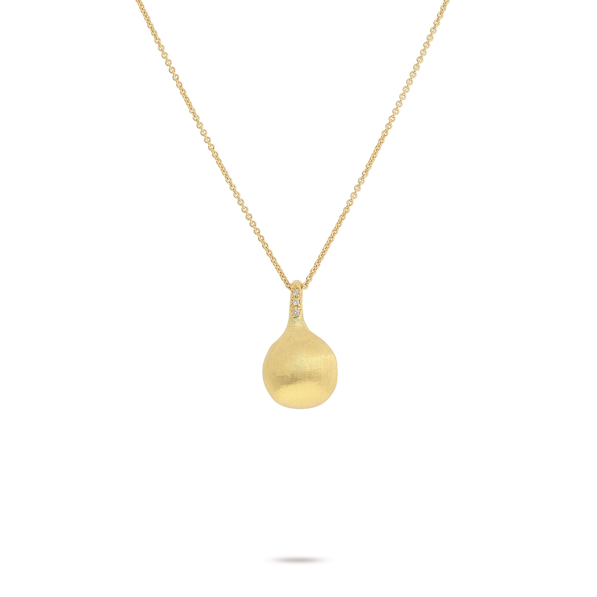 Marco Bicego 18K Yellow Gold .03cts  Diamonds Gold Necklace with Stones CB2493 B Y