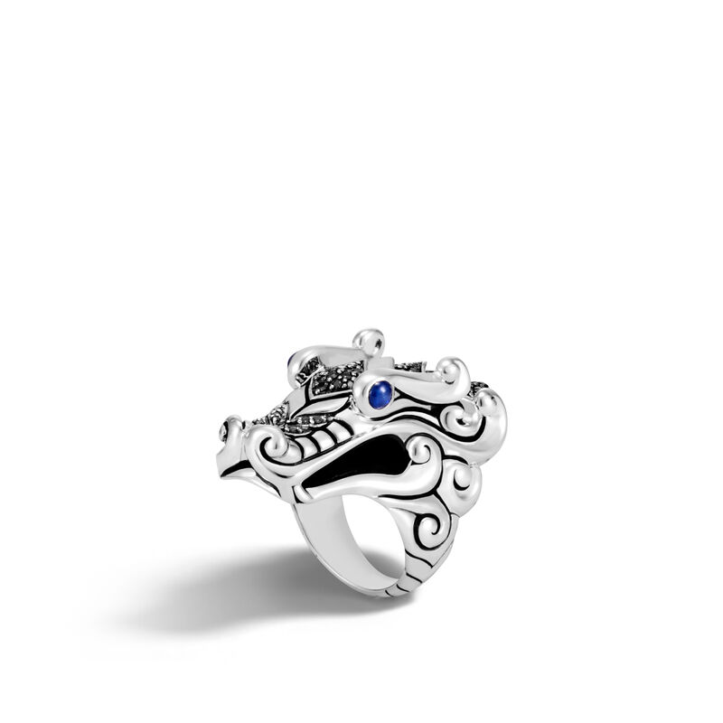 John Hardy       Silver Rings with Stones RBS6501184BLSBNX-7