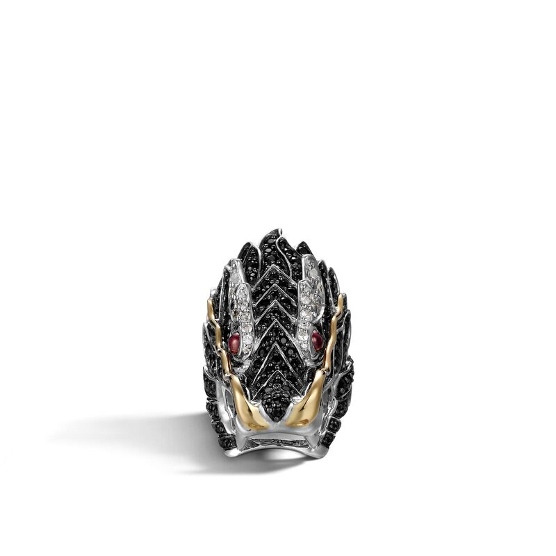 John Hardy       Silver Rings with Stones RZS658284AFRBBLSWSX7
