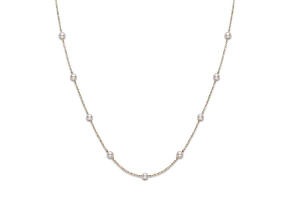 Mikimoto 18K Yellow Gold    Pearl Necklace PCQ158LK
