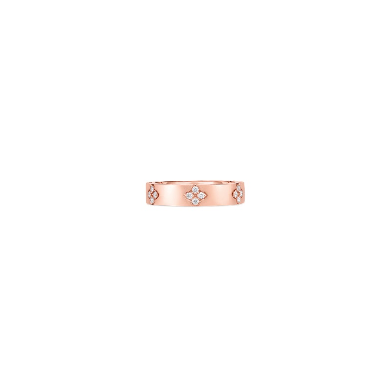 Roberto Coin 18K Rose Gold .15cts  Diamonds Gold Ring with Stones 8882970AX65X