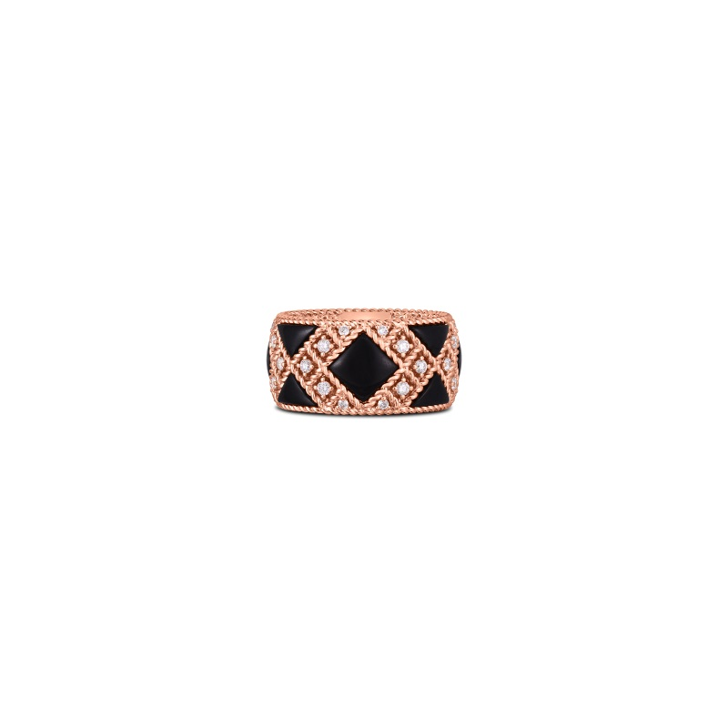 Roberto Coin 18K Rose Gold .49cts  Diamonds Gold Ring with Stones 8882973AX65X