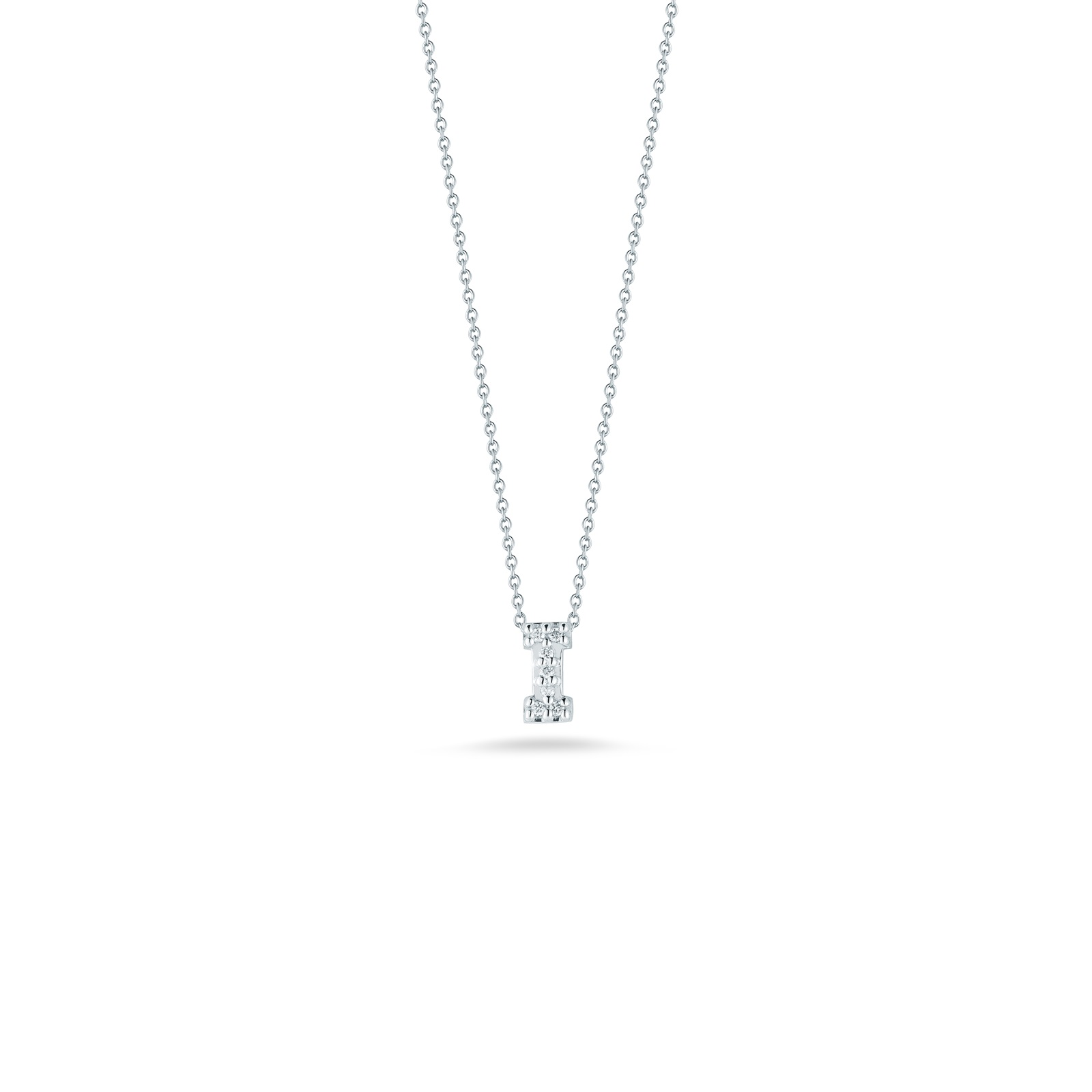 Roberto Coin 18K White Gold .03cts  Diamonds Gold Necklace with Stones 001634AWCHXI