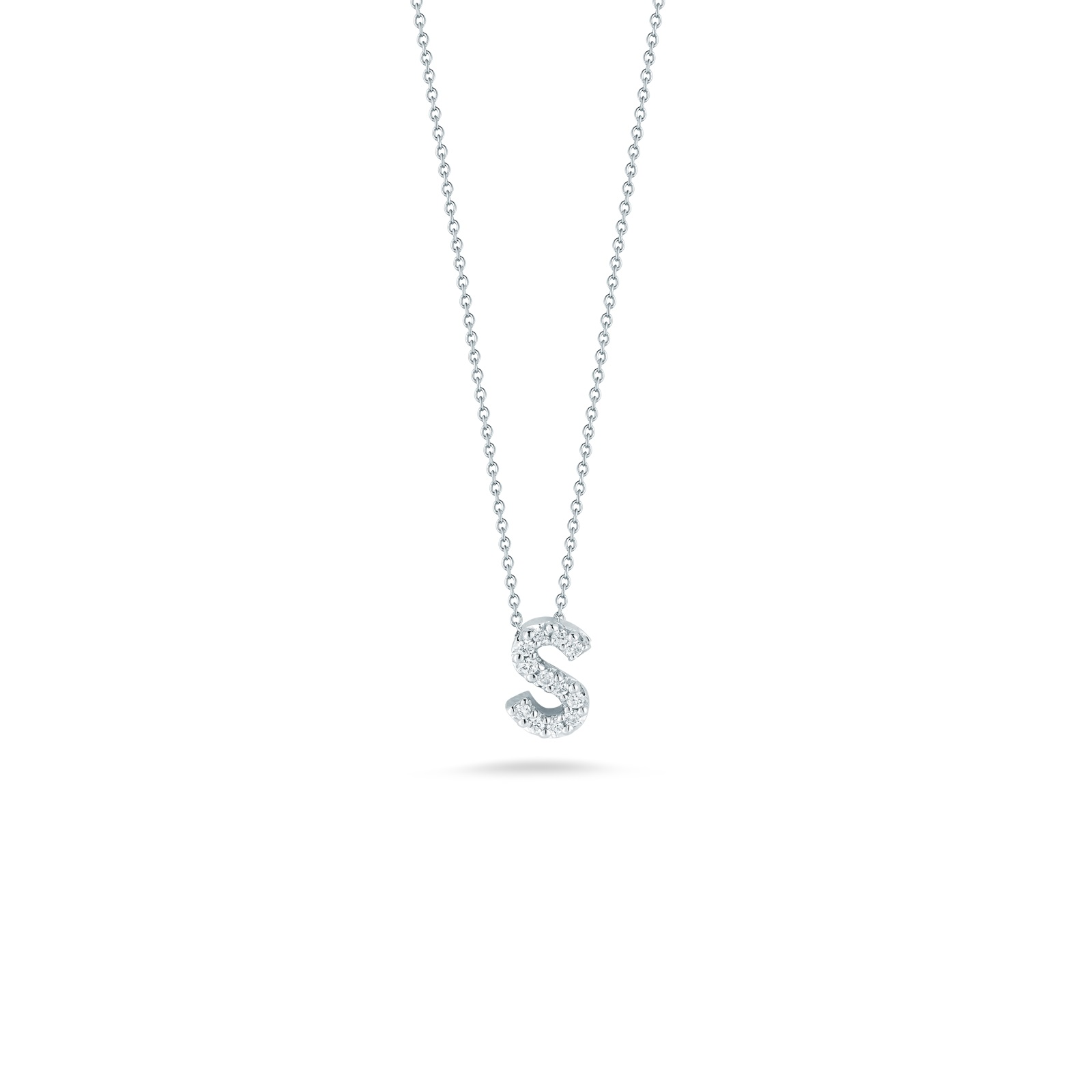 Roberto Coin 18K White Gold .05cts  Diamonds Gold Necklace with Stones 001634AWCHXS