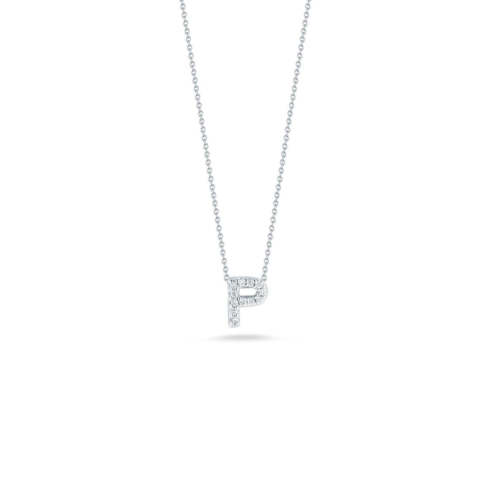 Roberto Coin 18K White Gold .05cts  Diamonds Gold Necklace with Stones 001634AWCHXP