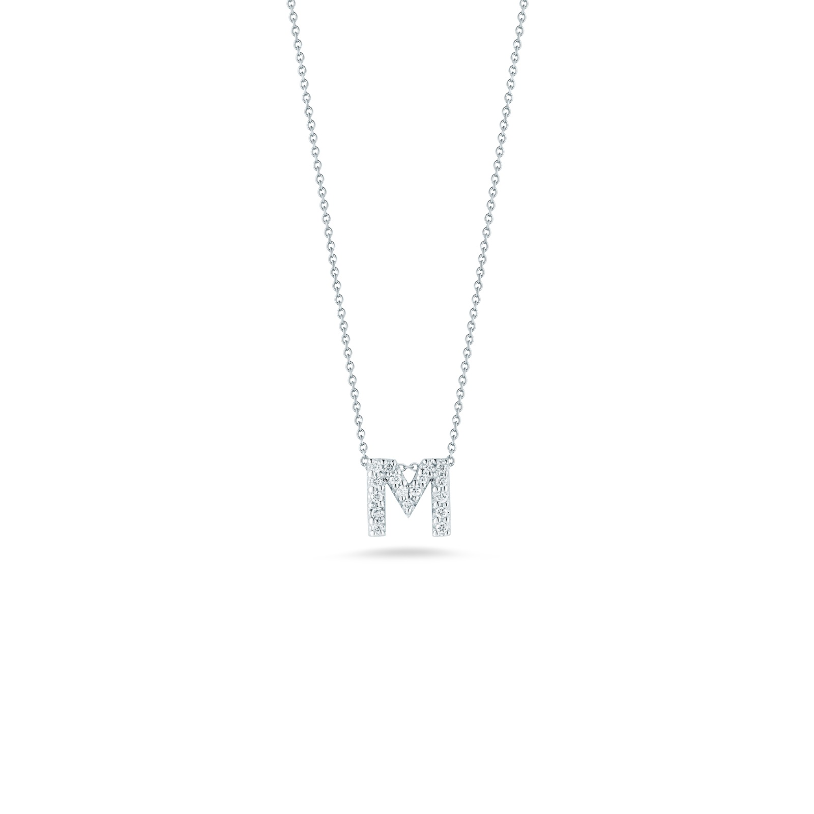 Roberto Coin 18K White Gold .08cts  Diamonds Gold Necklace with Stones 001634AWCHXM
