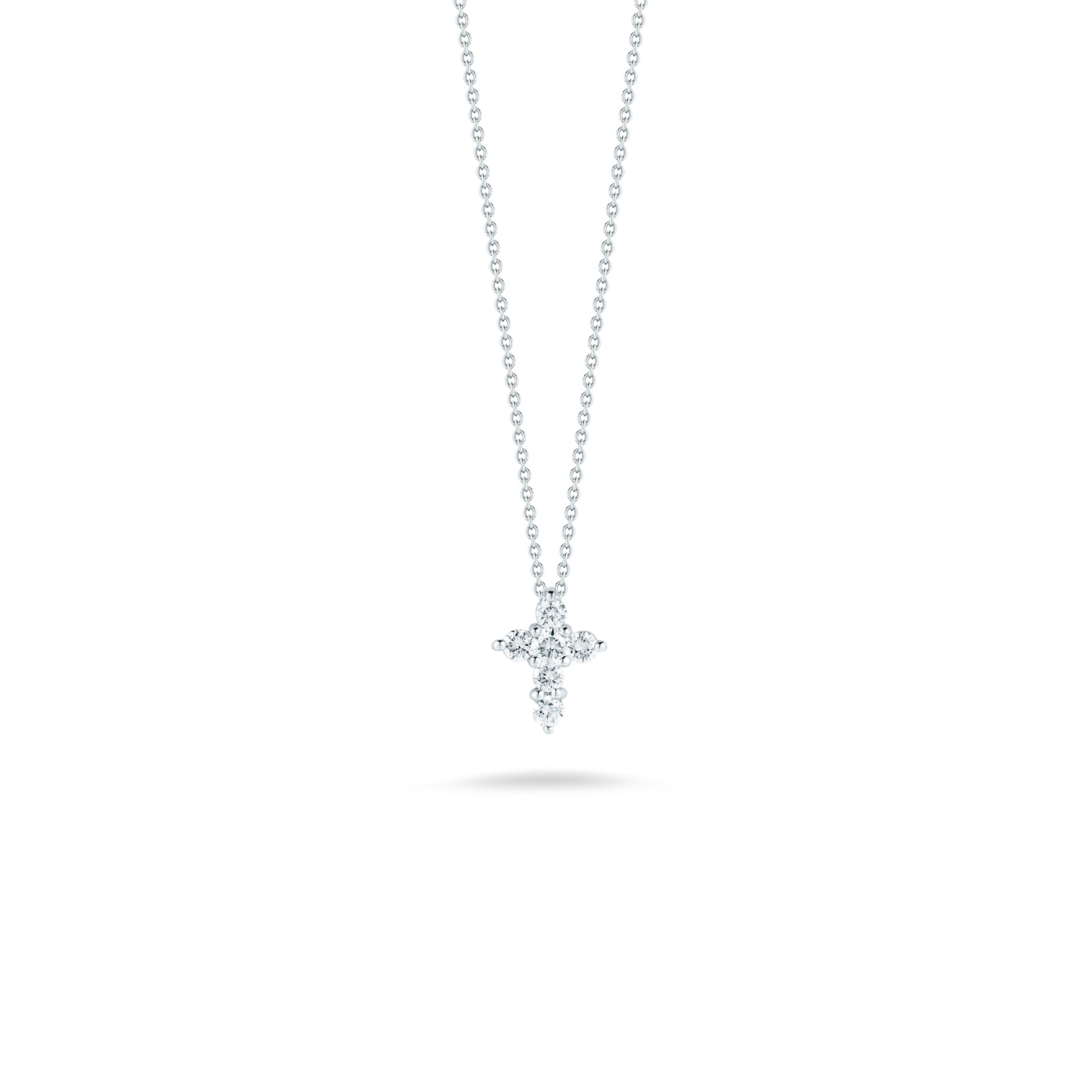 Roberto Coin 18K White Gold .11cts  Diamond Gold Necklace with Stones 001883AWCHX0
