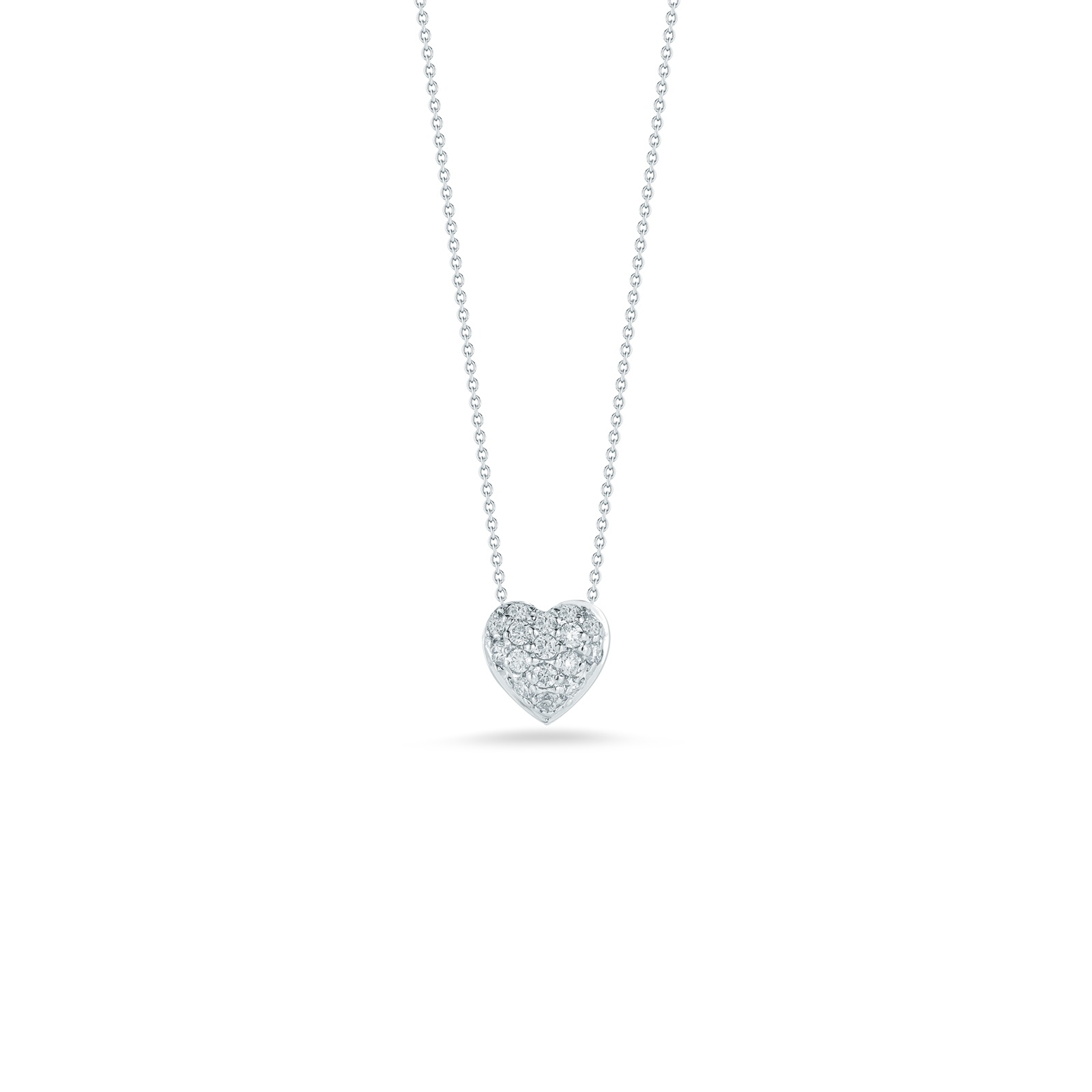 Roberto Coin 18K White Gold .15cts  Diamonds Gold Necklace with Stones 001549AWCHX0