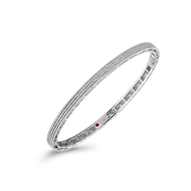 Roberto Coin 18K White Gold    Gold Bangle with Stones 7771361AWBA0