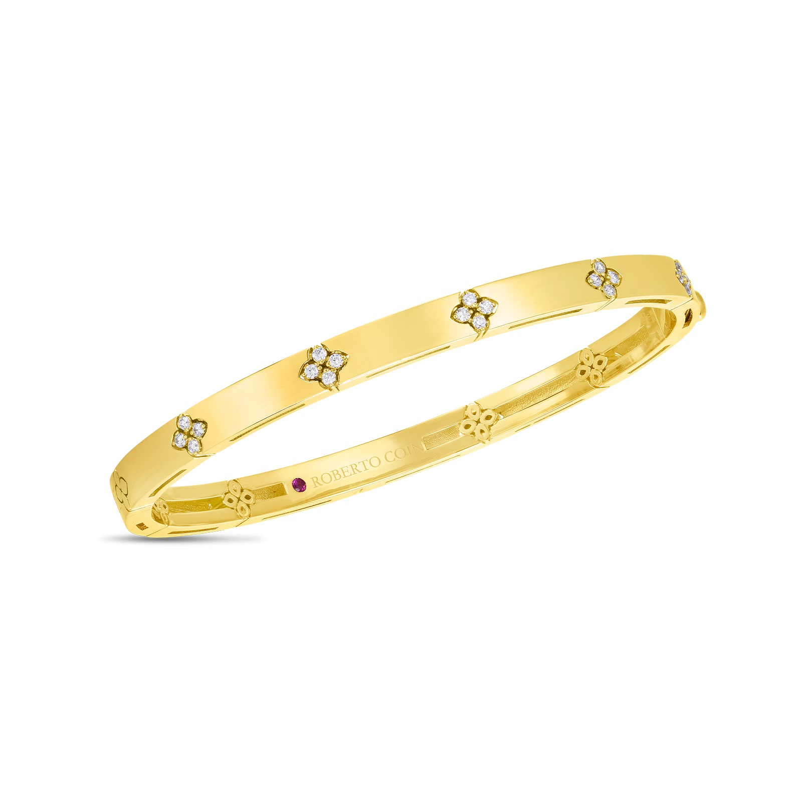 Roberto Coin 18K Yellow Gold .45cts  Diamonds Gold Bangle with Stones 8882968AYBAX