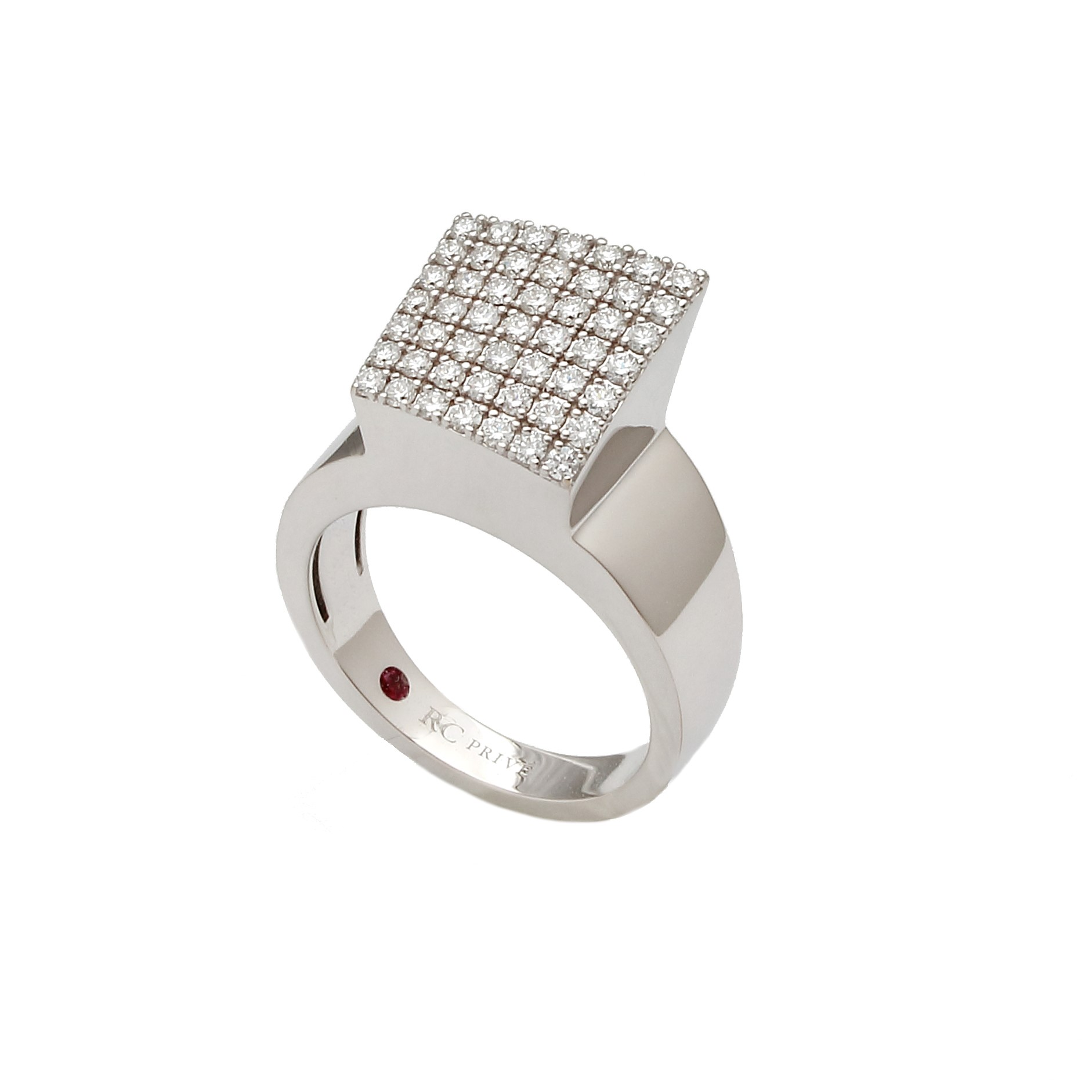 Roberto Coin 18k White Gold .60cts  Diamond Gold Ring with Stones 8882321AW65X