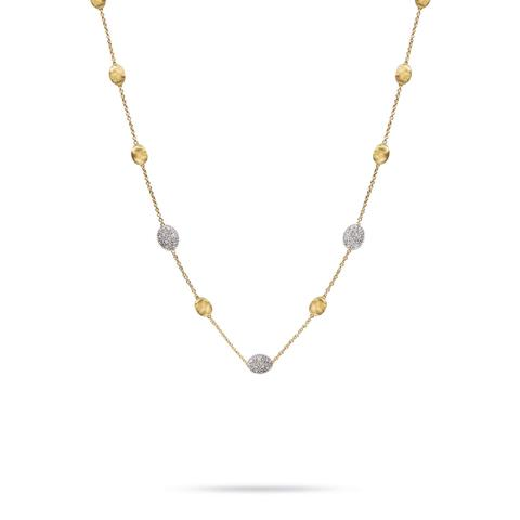 Marco Bicego 18K Yellow Gold .60cts  Diamonds Gold Necklace with Stones CB1838-B YW