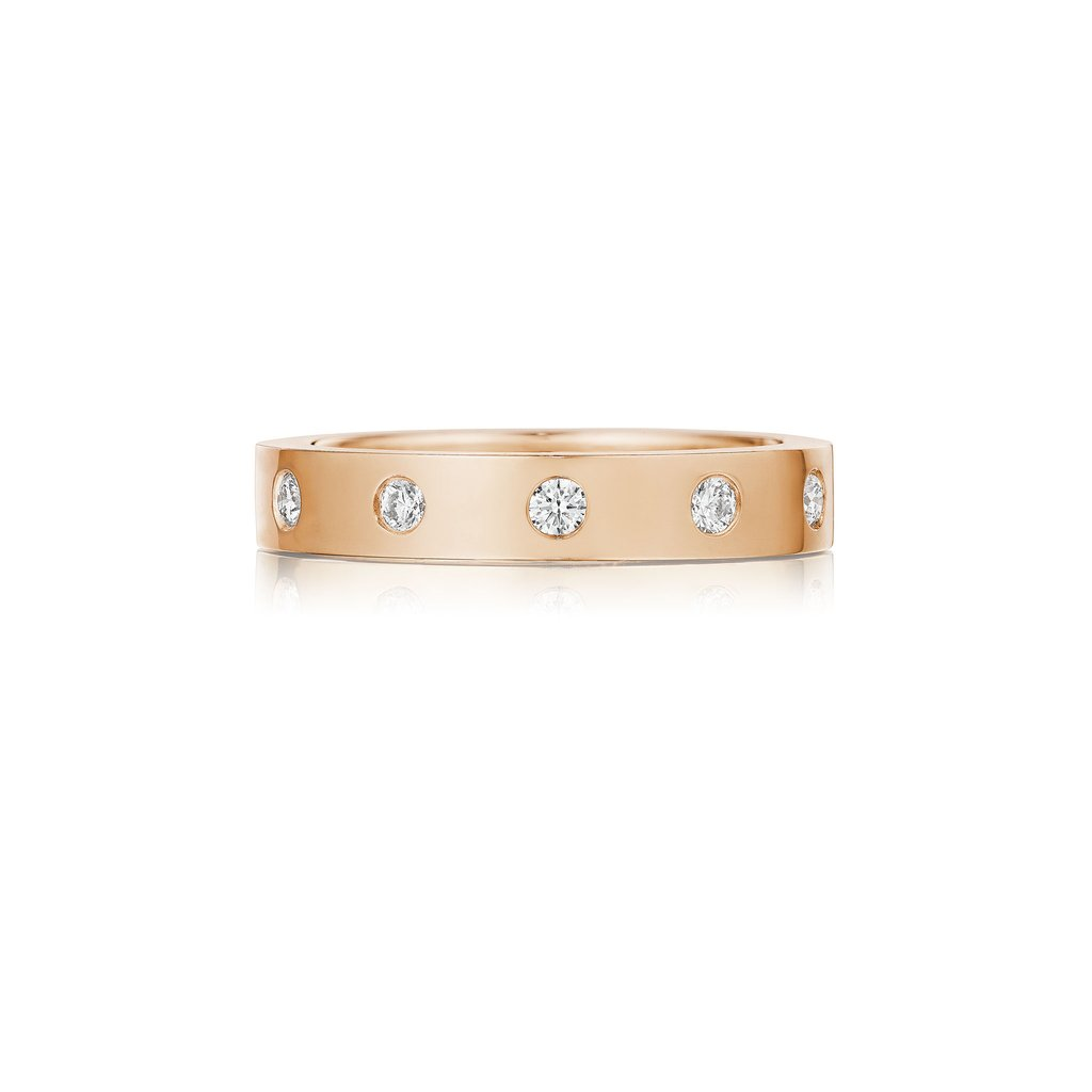 Penny Preville 18K Rose Gold .77cts  Diamond Gold Ring with Stones R7596R