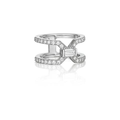 Penny Preville 18K White Gold .87cts  Diamond Gold Ring with Stones R5124W