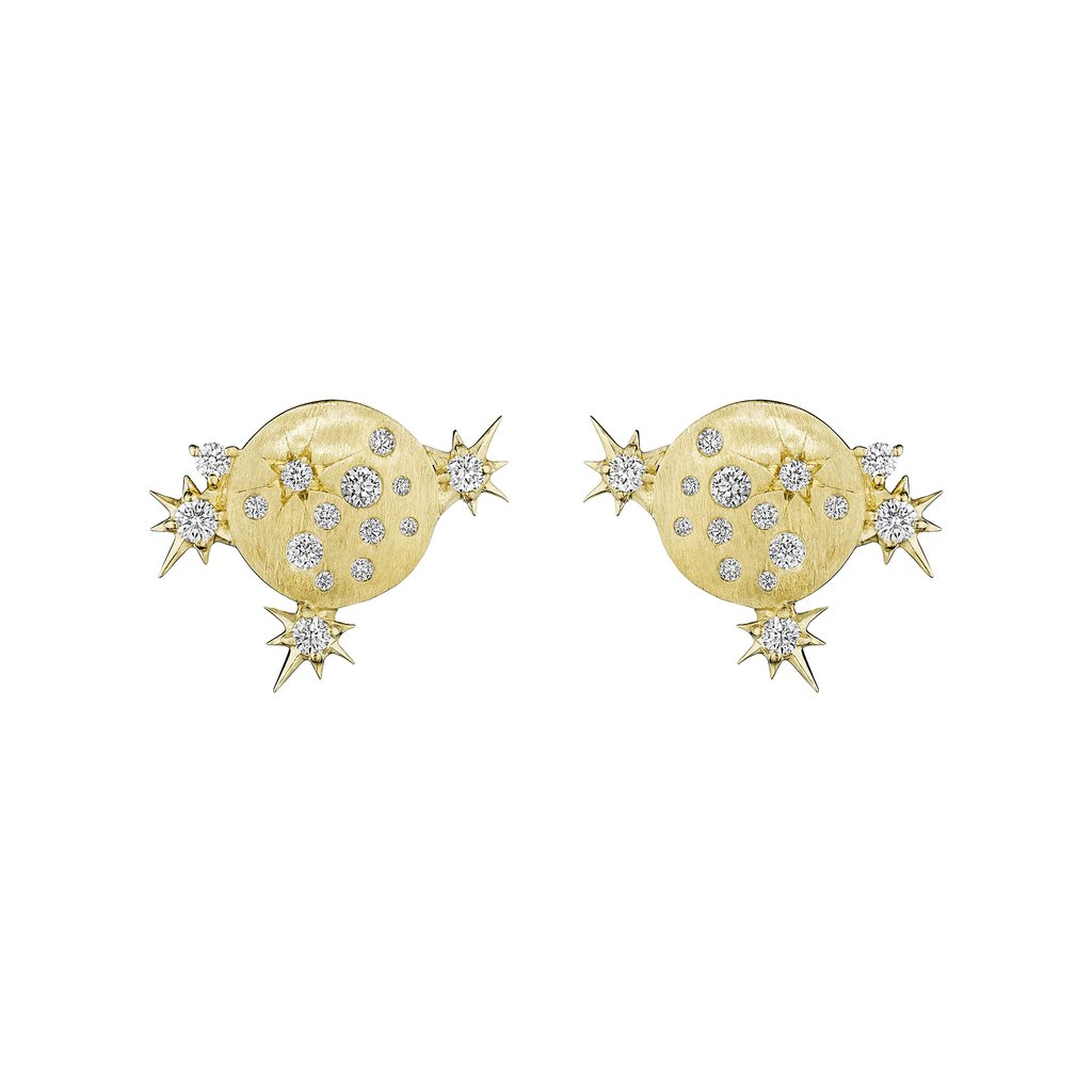 Penny Preville 18K Yellow Gold .68cts  Diamond Gold Earrings with Stones E7758G