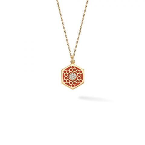 Birks 18K Yellow Gold .04cts  Diamonds Gold Necklace with Stones 450013687369