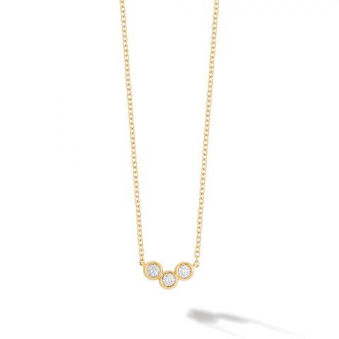 Birks 18K Yellow Gold .11  Diamonds Gold Necklace with Stones 450014240754