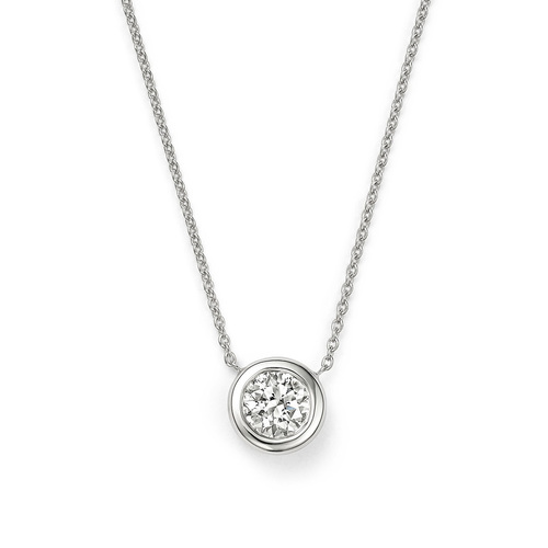 Roberto Coin 18K White Gold .38cts  Diamonds Gold Necklace with Stones 001954AWCHX0