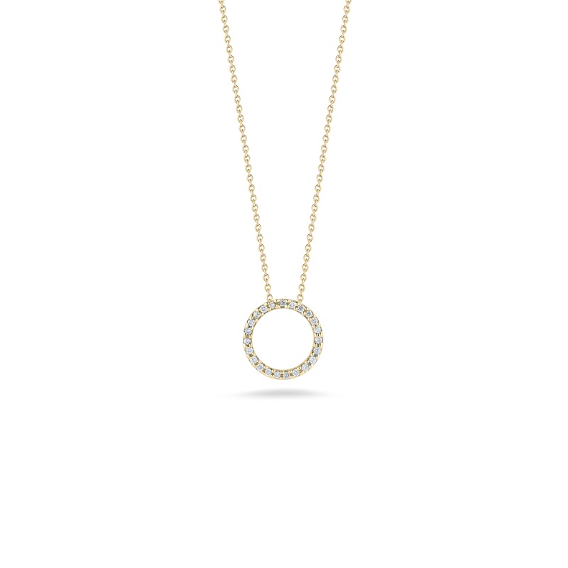 Roberto Coin 18K Yellow Gold .09cts  Diamonds Gold Necklace with Stones 001258AYCHX0